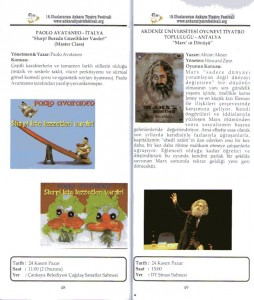 Turkey Taksav program libretto