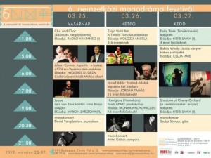 Hungary monodrama 2012 program